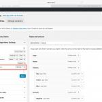Screenshot showing admin settings for vertical mega menu