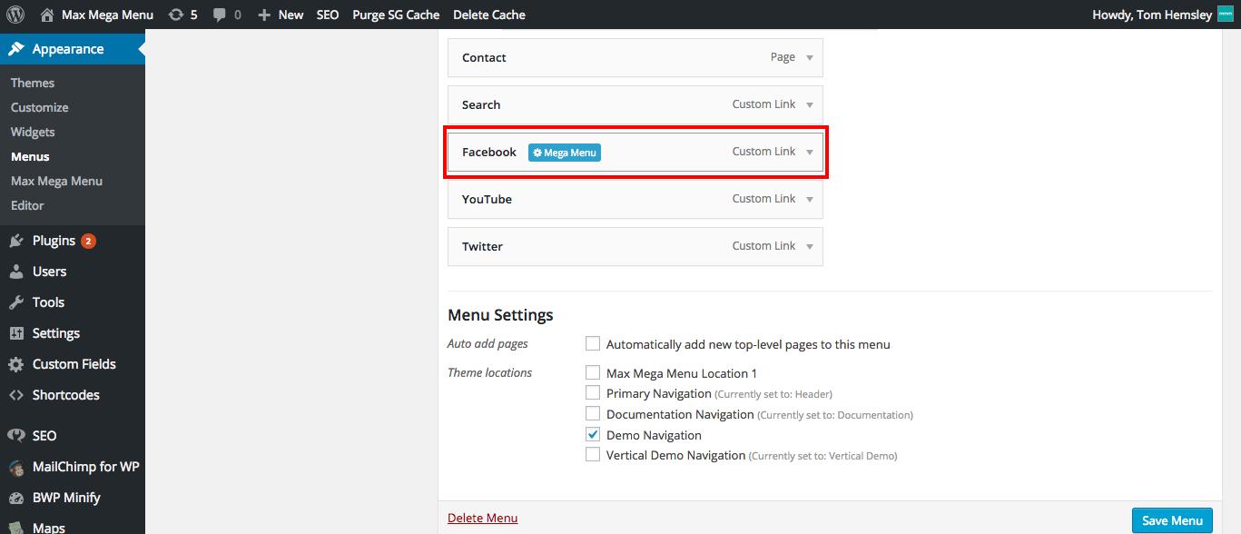 social-link-megamenu-settings