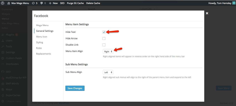 social-link-settings