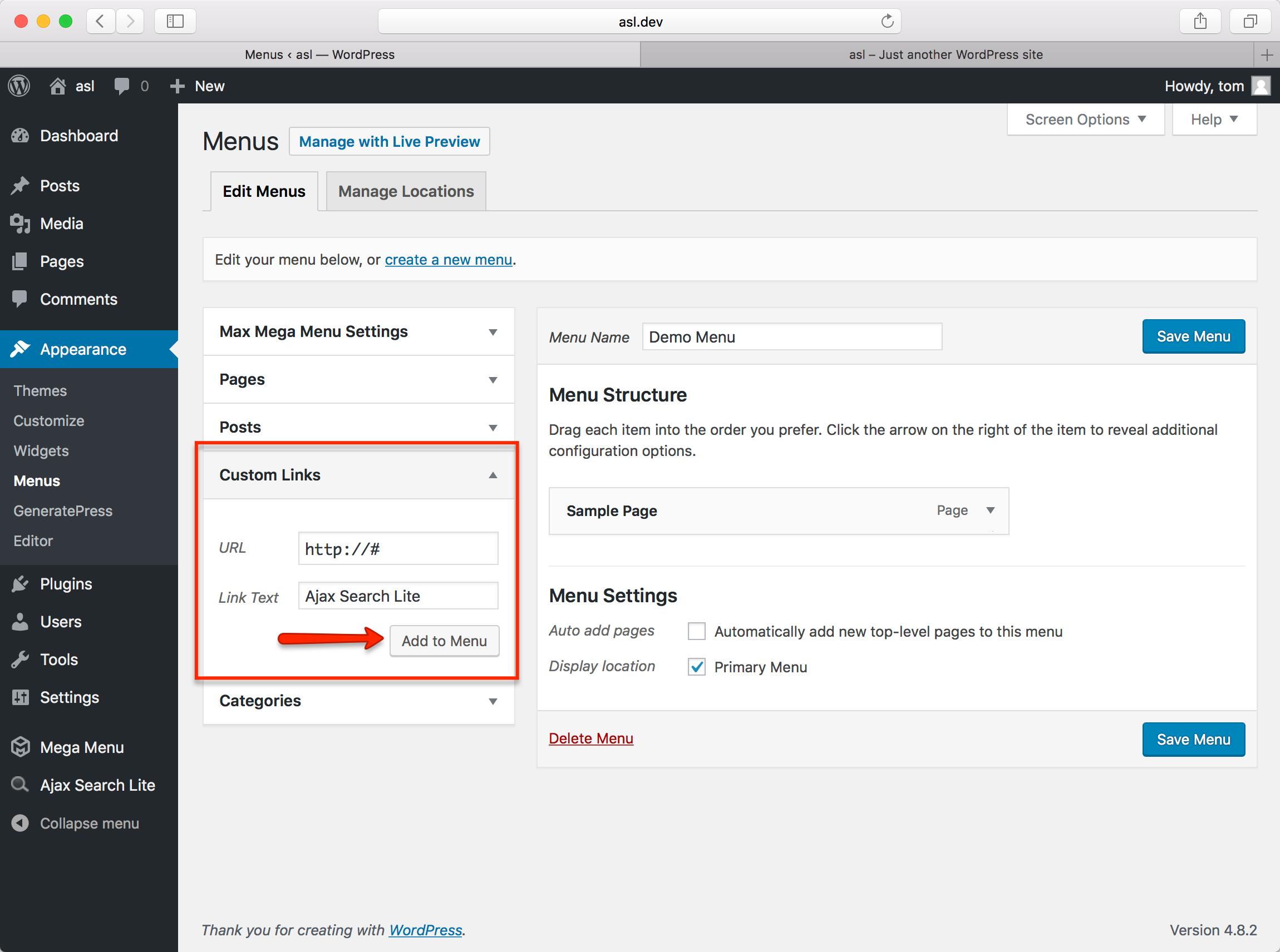 Using Ajax Search Lite/Pro with Max Mega Menu – Max Mega Menu